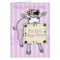 Mother, Mother's Day cute little sheep Card