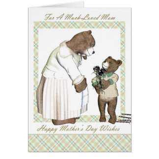 Mother, Mother's Day, Much loved Mom Greeting Card