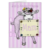 Mother, Mother's Day Welsh Language Card Cute