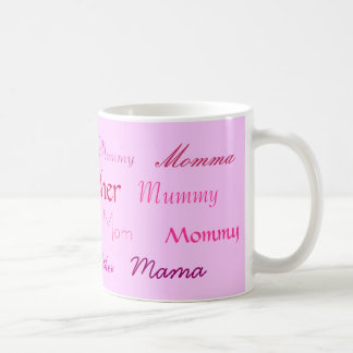 Mother, Mudder, Mommy, Mummy, Mom, Momma, Mama,... Mugs