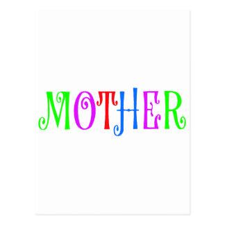 Mother Multi Colored Postcard