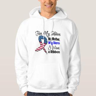 Mother - My Soldier, My Hero Patriotic Ribbon Hoodie