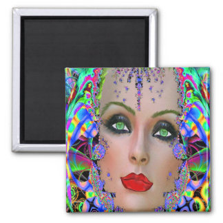 Mother Nature 2 Inch Square Magnet