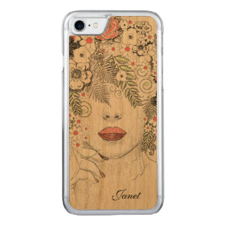 Mother Nature Abstract Wooden iPhone 6 Carved iPhone 7 Case