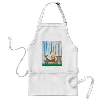 Mother Nature and Animal Friends Adult Apron