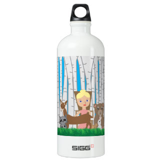 Mother Nature and Animal Friends Aluminum Water Bottle