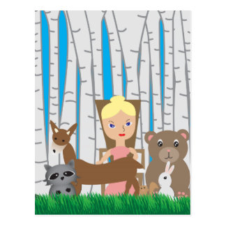 Mother Nature and Animal Friends Post Card