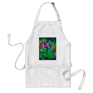 MOTHER NATURE CALLING FROM BEYOND THE STAIN GLASS ADULT APRON