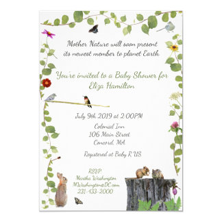 Mother Nature Calls: Baby Shower Invitation