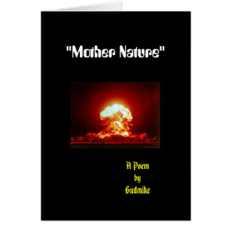 """""""Mother Nature"""" Card"""