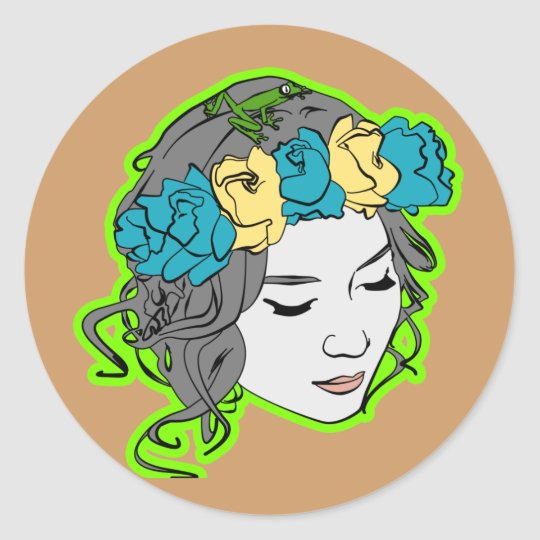 Mother Nature Classic Round Sticker