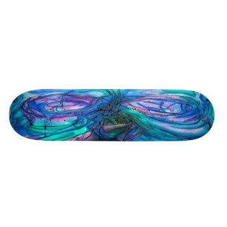 Mother Nature Fairy Tree watercolor painting Skateboard