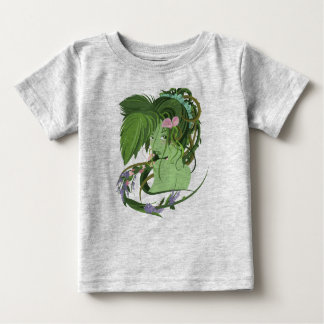 Mother Nature Green Forest Flowers Simple Clean Baby T-Shirt
