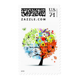 Mother Nature & Her Four Seasons Medium Postage