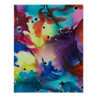 Mother Nature In Abstract Form Poster