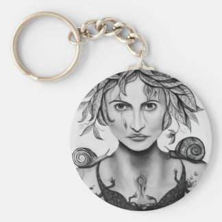 Mother Nature in B/W Keychain
