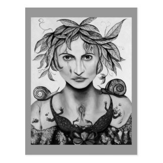 Mother Nature in B/W Postcard