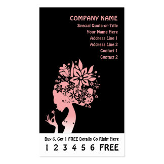 mother nature loyalty card Double-Sided standard business cards (Pack of 100)