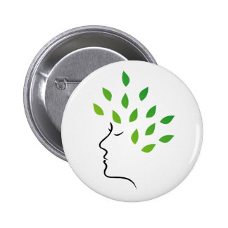 Mother nature pinback button