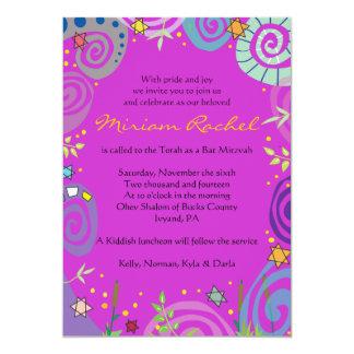 MOTHER NATURE SWIRL Bat Bar Mitzvah Invitation