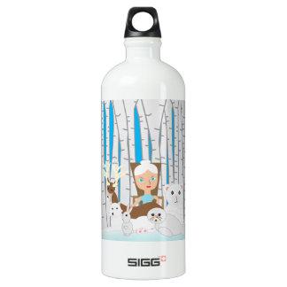 Mother Nature Winter Scene Aluminum Water Bottle