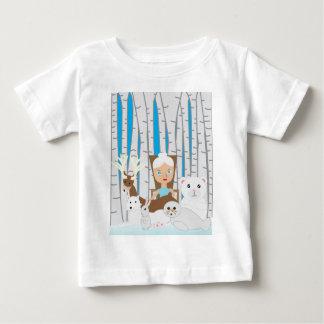 Mother Nature Winter Scene Baby T-Shirt