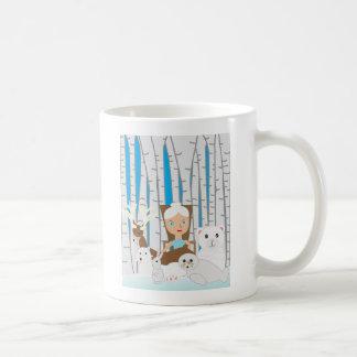 Mother Nature Winter Scene Coffee Mugs