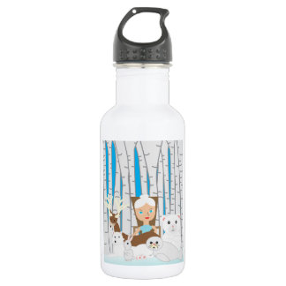 Mother Nature Winter Scene Stainless Steel Water Bottle