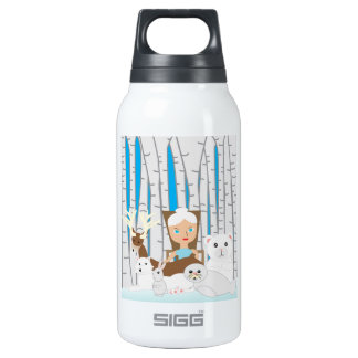 Mother Nature Winter Scene Thermos Bottle