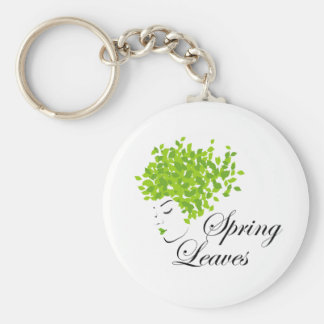 Mother nature with spring leaves as hair keychain