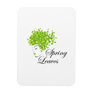 Mother nature with spring leaves as hair rectangular photo magnet