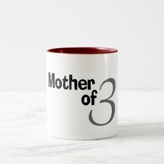 Mother Of 3 Two-Tone Coffee Mug