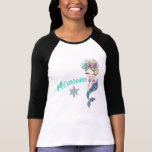 "Mother of a Mermaid, birthday Party Mermom T-Shirt<br><div class=""desc"">Perfect for the whole family to match for your little ones under the sea,  Mermaid Party</div>"