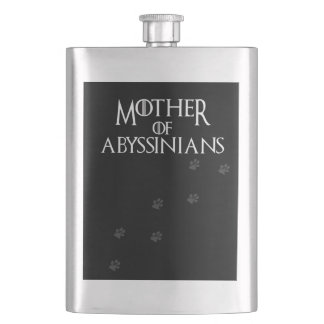Mother of Abyssinians, #Abyssinians Flask