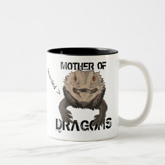 Mother of (Bearded) Dragons Two-Tone Coffee Mug