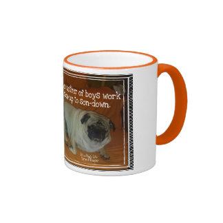 Mother of Boys Ringer Coffee Mug