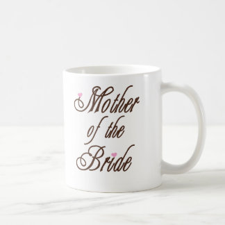 Mother of Bride Classy Browns Classic White Coffee Mug