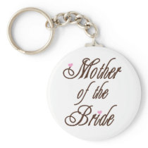 Mother of Bride Classy Browns Keychain
