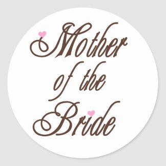 Mother of Bride Classy Browns Classic Round Sticker