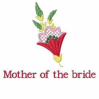 Mother of Bride floral embroidered women's t-shirt