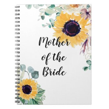 MOTHER OF BRIDE GROOM Sunflowers - Personalized Notebook