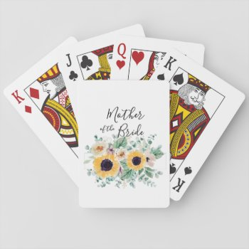 MOTHER OF BRIDE GROOM Sunflowers - Personalized Playing Cards