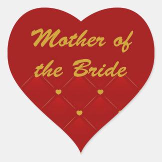 Mother Of Bride r g Heart Sticker