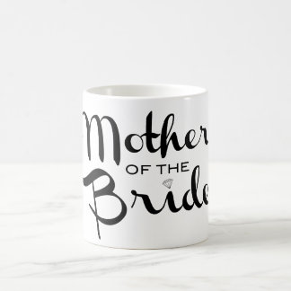 Mother of Bride Retro Script Black on White Coffee Mug