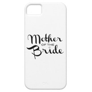 Mother of Bride Retro Script Black on White iPhone SE/5/5s Case