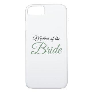 Mother of Bride Script Green iPhone 7 Case