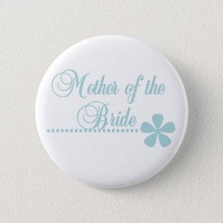 Mother of Bride Teal Elegance Pinback Button