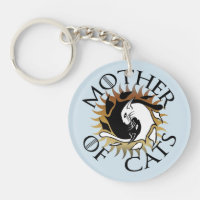 Mother Of Cats Keychain