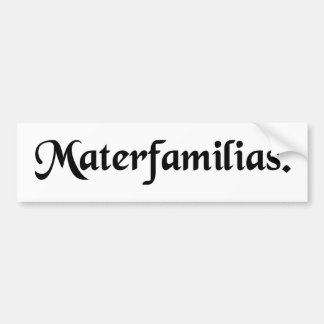 Mother of family. car bumper sticker