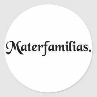 Mother of family. classic round sticker